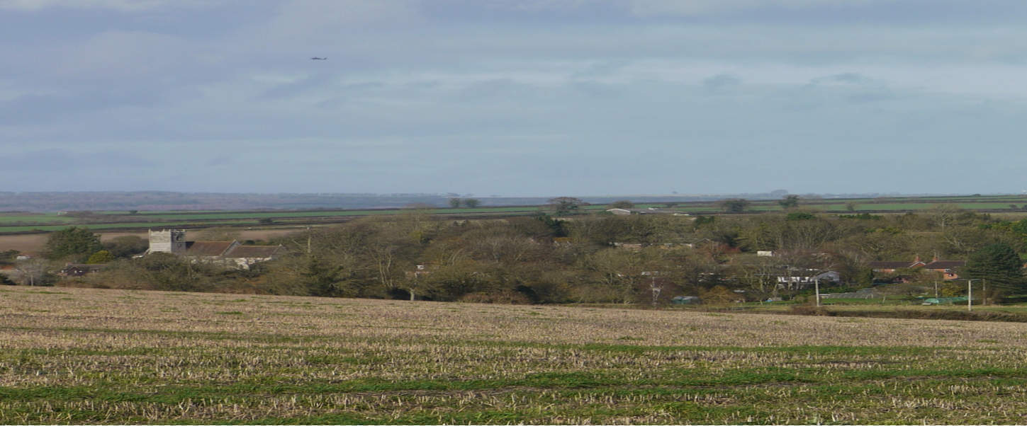 Panoramic view of Gussage All Saints