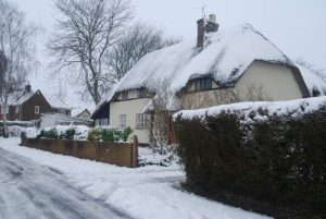 Photo of a cottage in Hinton Martell in Winter